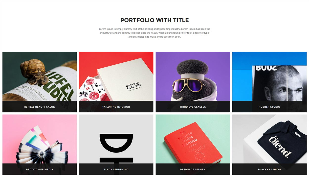 Portfolio Gallery Filter Codepen