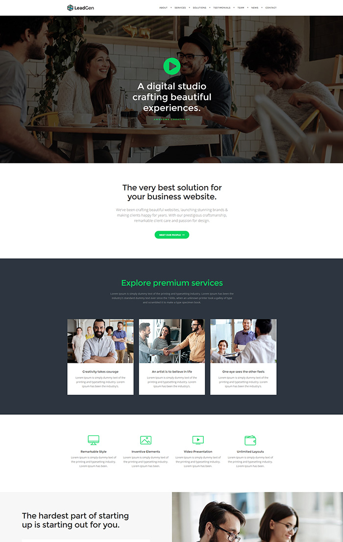 Leadgen multipurpose marketing landing page pack with page builder view demo fandeluxe Images