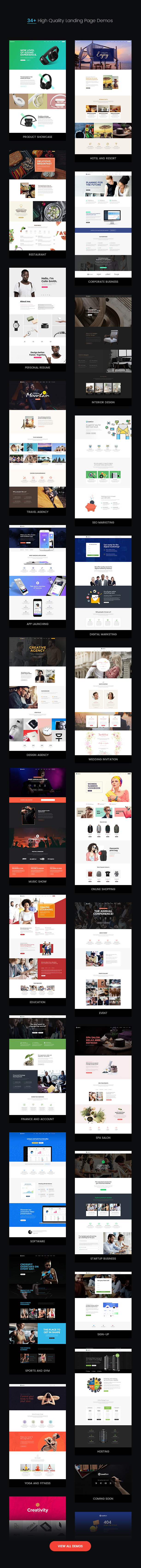LeadGen - Multipurpose Marketing Landing Page Pack with HTML Builder - 9