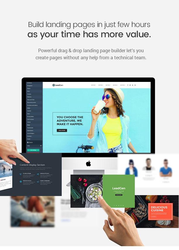 LeadGen - Multipurpose Marketing Landing Page Pack with HTML Builder - 8