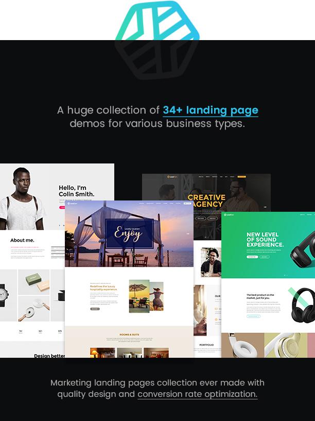 LeadGen - Multipurpose Marketing Landing Page Pack with HTML Builder - 6