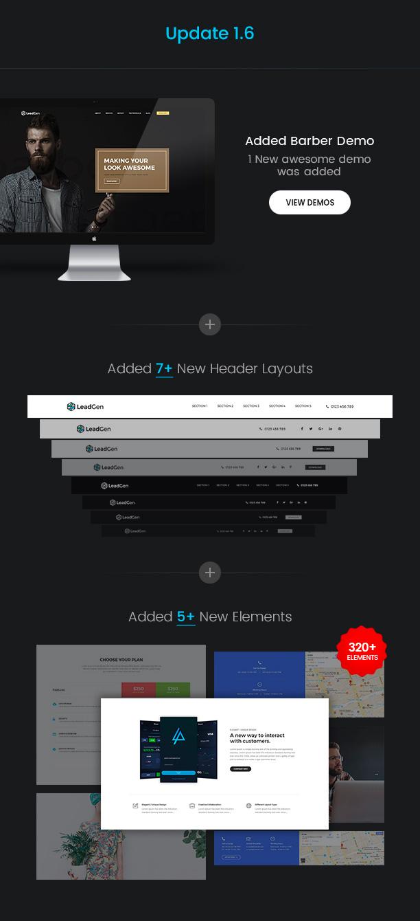 LeadGen - Multipurpose Marketing Landing Page Pack with HTML Builder - 4