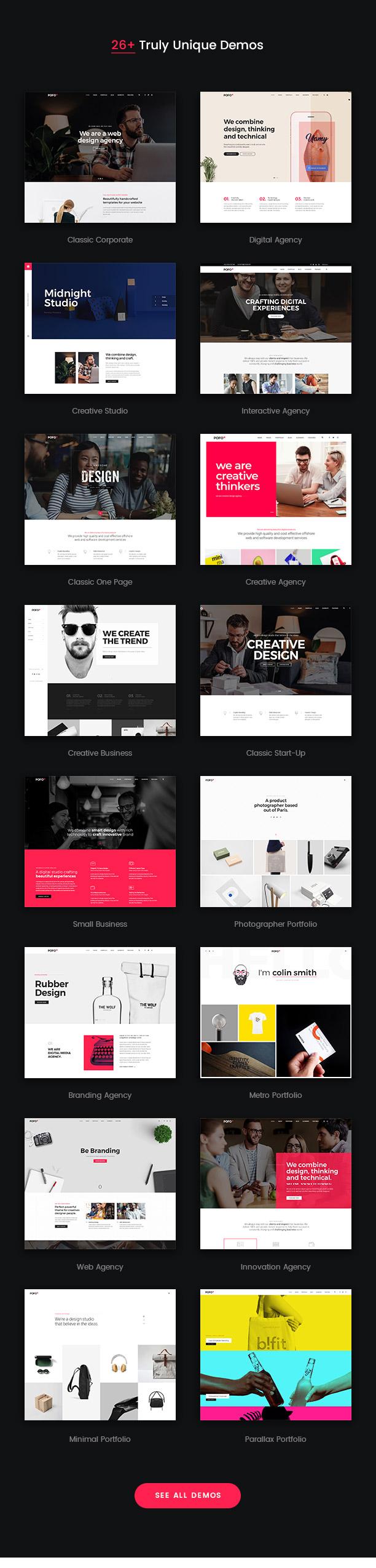 Pofo - Creative Agency, Corporate and Portfolio Multi-purpose Template - 6
