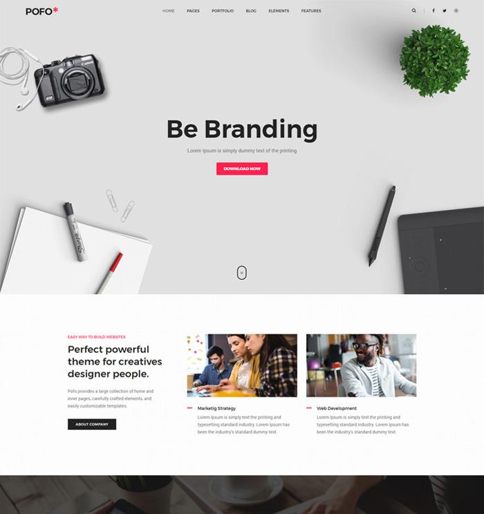 Download Free Creative Design Agencies Website Template: Creative Agency, Corporate And Portfolio Multi