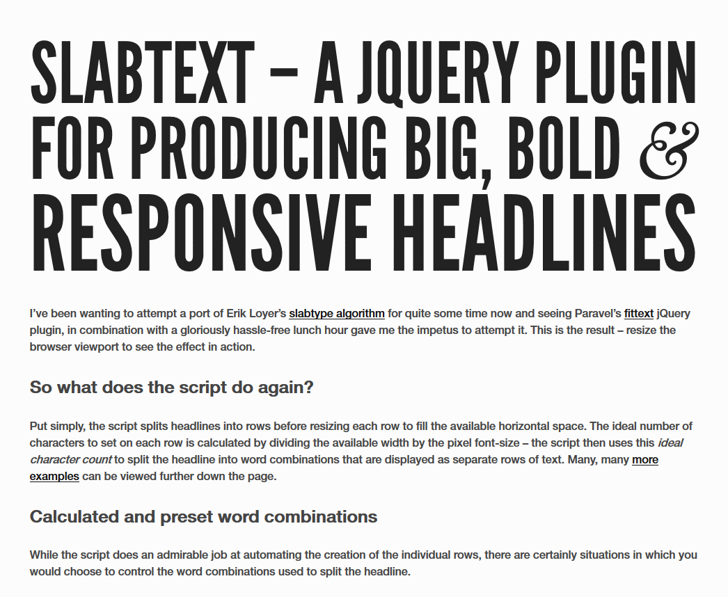9 Super useful jQuery plugins for better typography - ThemeZaa