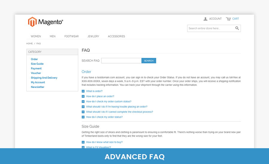 Advanced FAQ Magento Extension