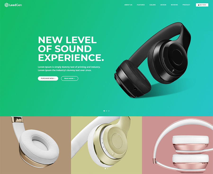 LeadGen – Multipurpose Marketing Landing Page Pack with Page Builder