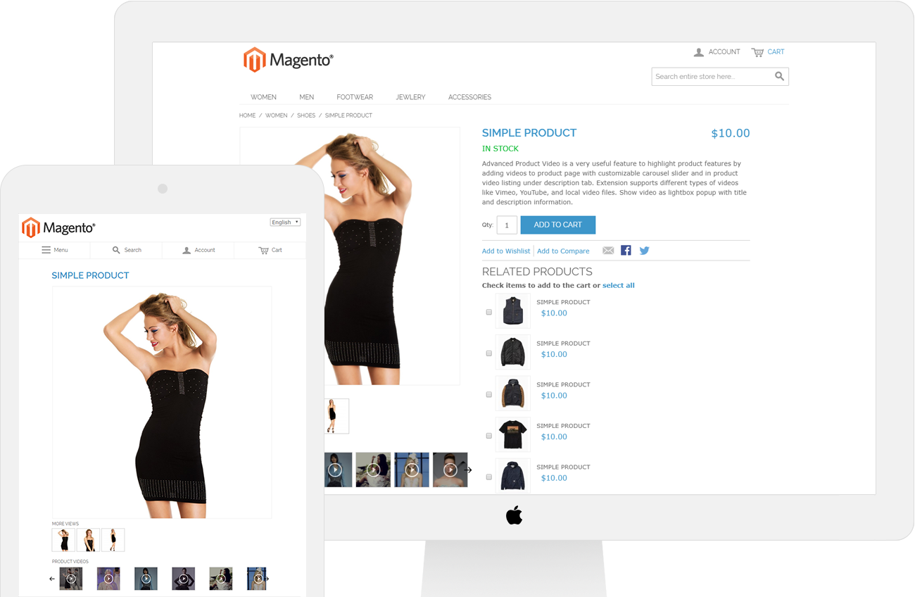 Advanced product video extension for magento