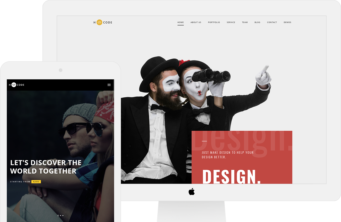 H-Code multipurpose onepage & multi page template