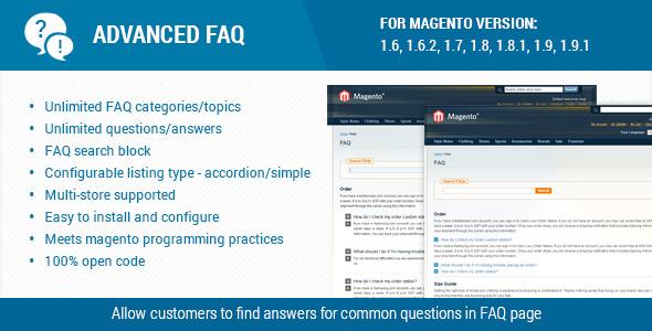 Advanced faq extension for magento