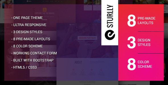 Sturlly html template