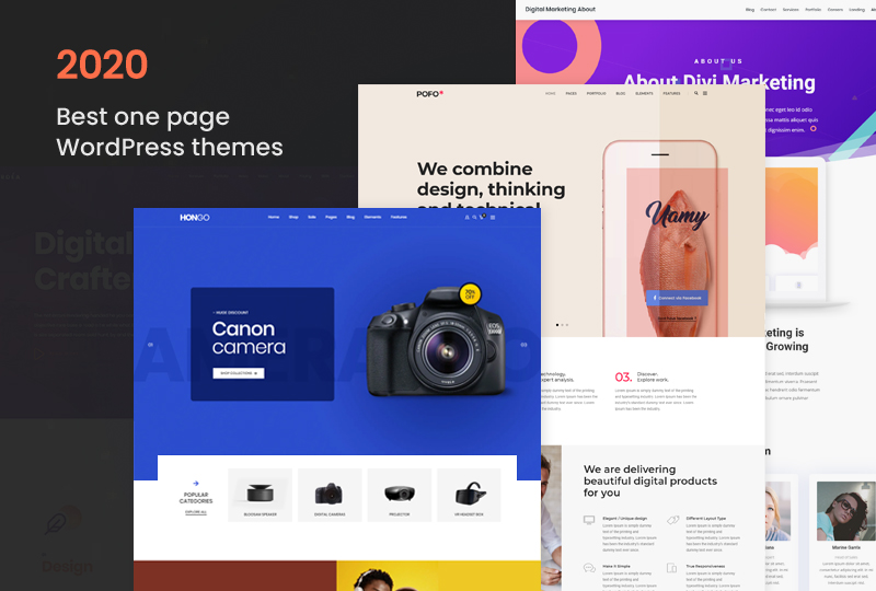 Get Started 2020 With 12 Best one page WordPress themes